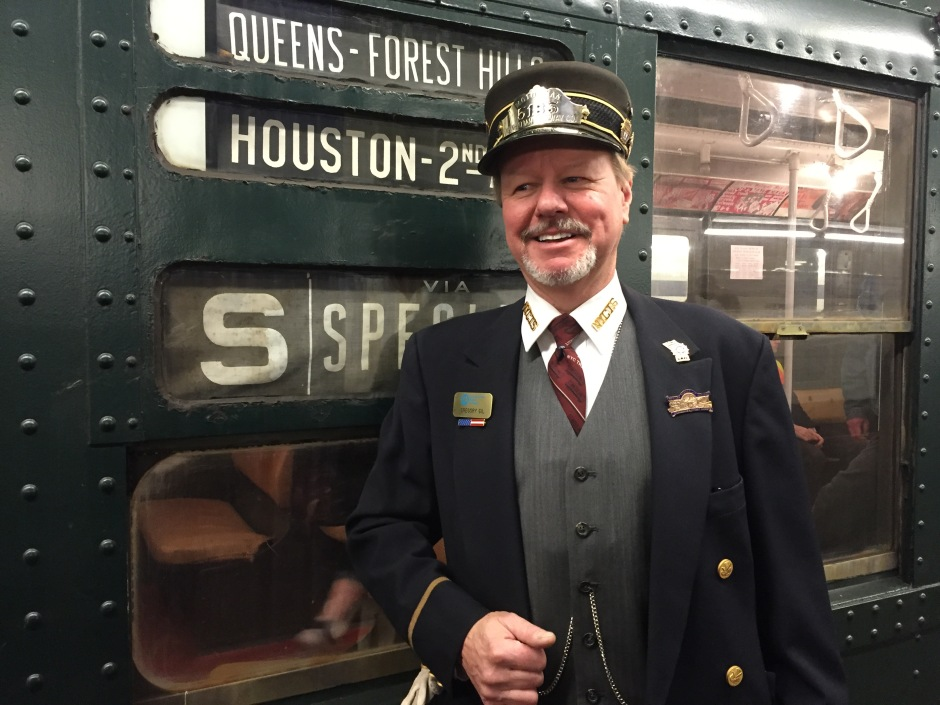 On the vintage holiday train